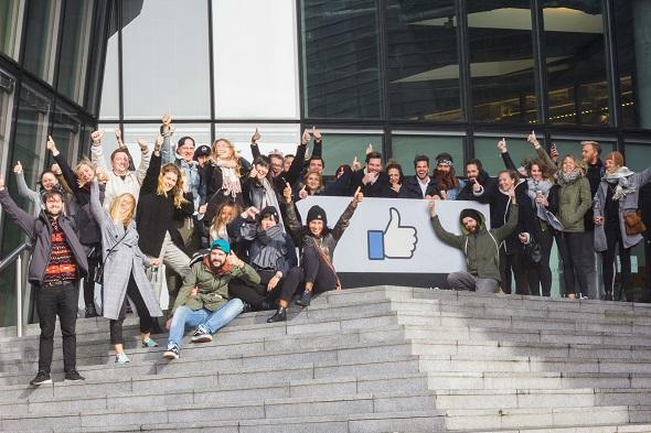 """Ein """"Like"""" von uns für den genialen Tag bei Facebook in Dublin."""
